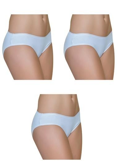 Gallipoli Kadın Pamuklu Bikini 3'Lü Paket Slip Külot  Beyaz